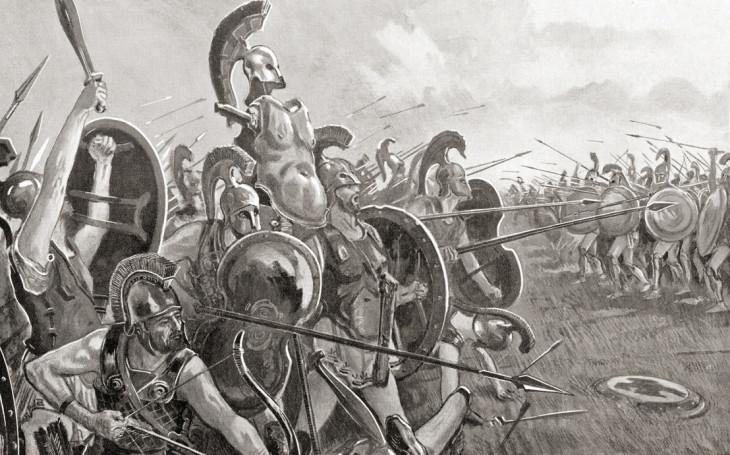 Universal History Archive/UIG via Getty Images. A peloponnészoszi háború egyik végső csatája a Hellespontos szorosnál.-