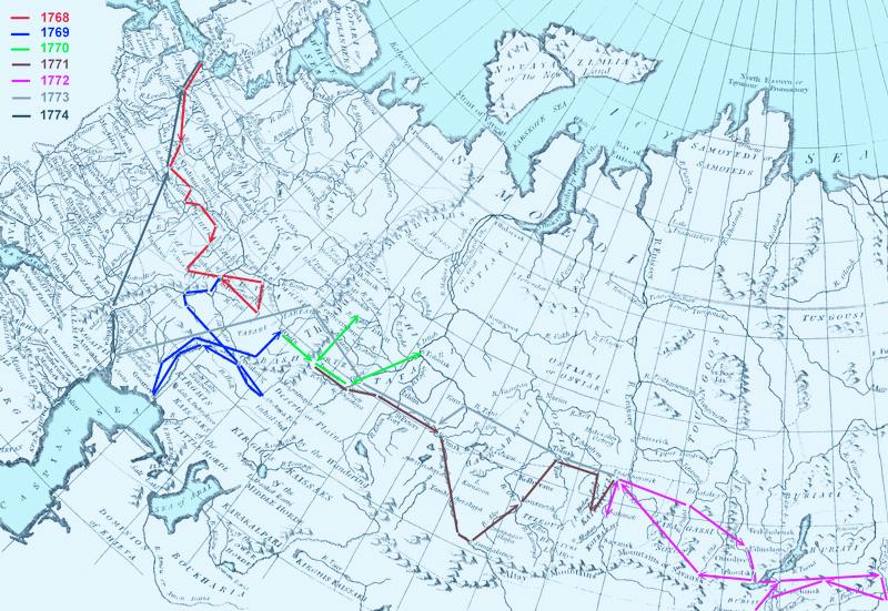 Wikimedia-Pallas expedíciójának útvonala