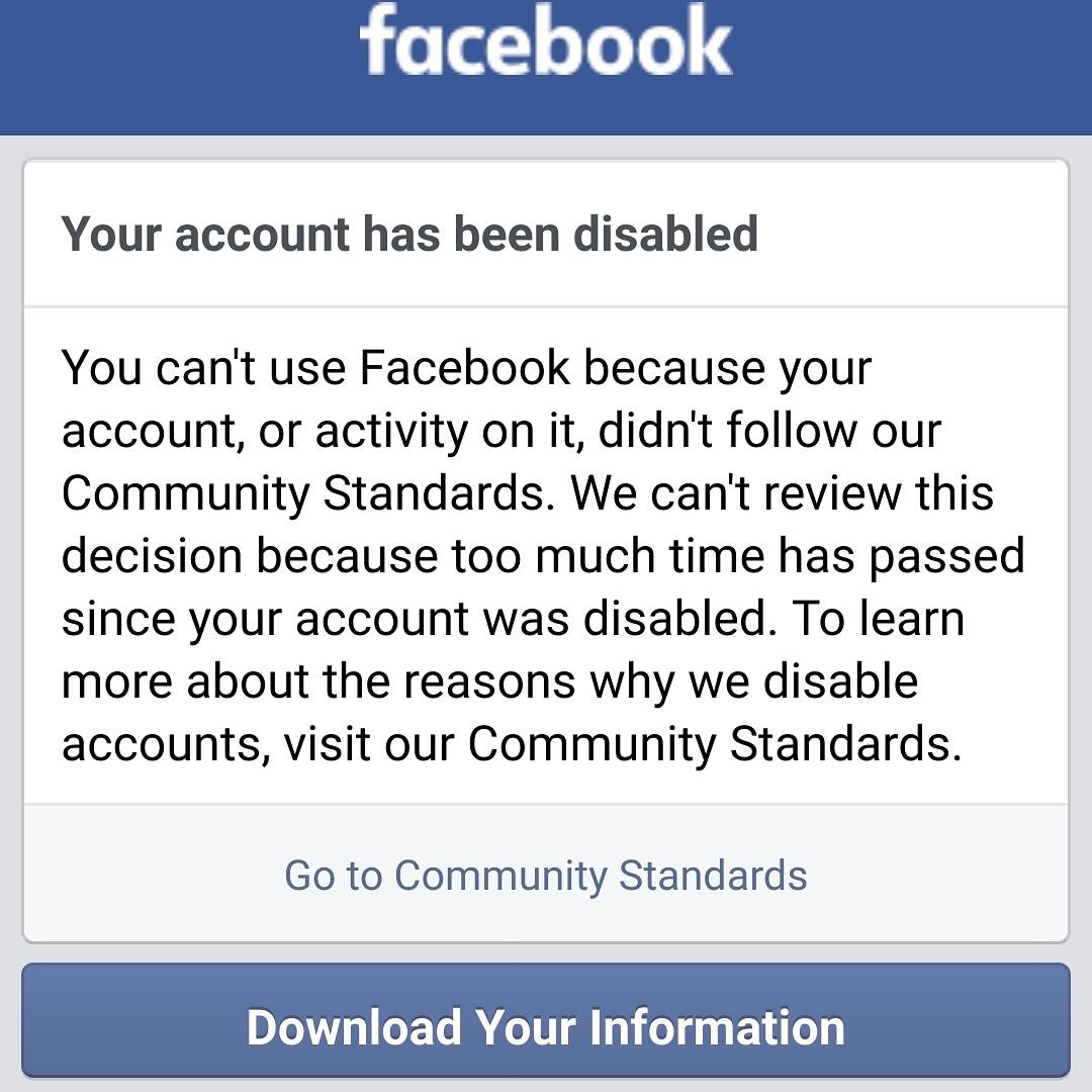 Reddit-A Facebook fiókodat felfüggesztettük