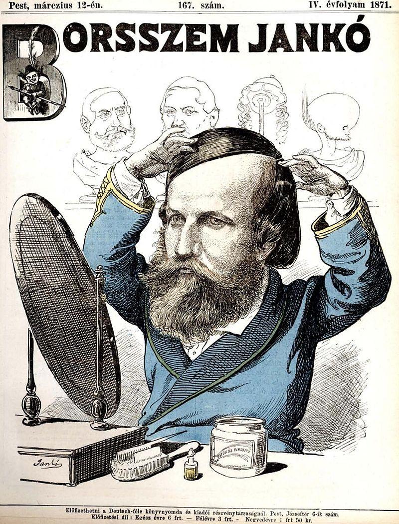 Wikipedia-Parókai Jókai Mór. Politikai karikatúra, Borsszem Jankó, 167. szám