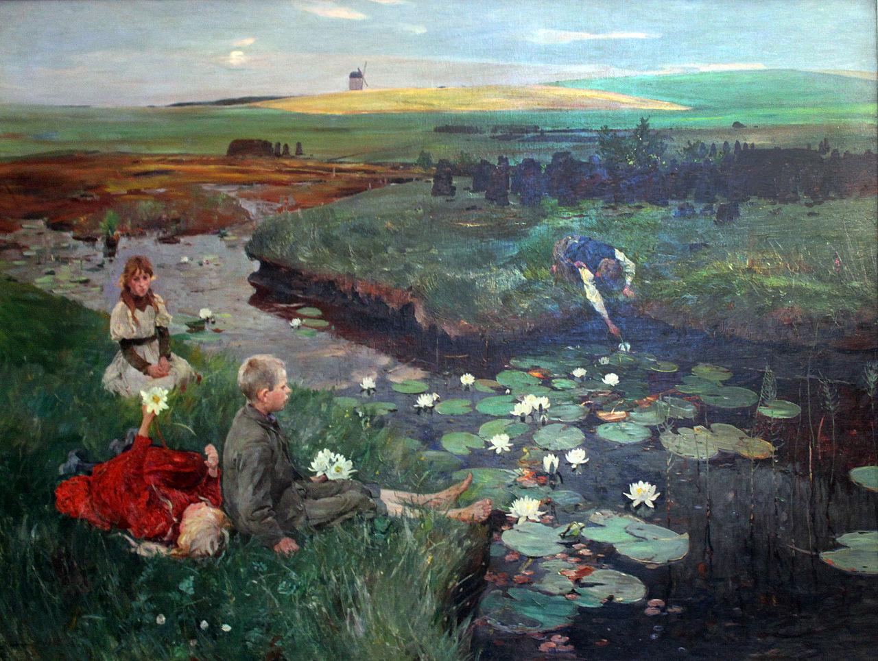 Wikipedia-Ludwig Dettmann: Vízililiomok