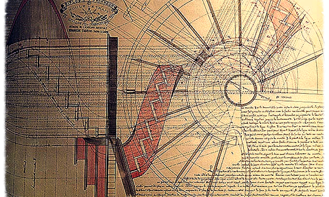 http://imagesdouvrages.free.fr/trait25.htm-Egy 1892-es csigalépcső sztereotomikus rajza