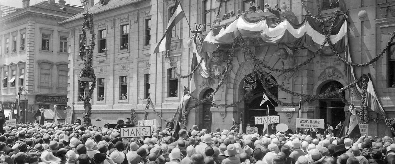 A békeszerződés elleni tüntetés Szegeden 1920-ban