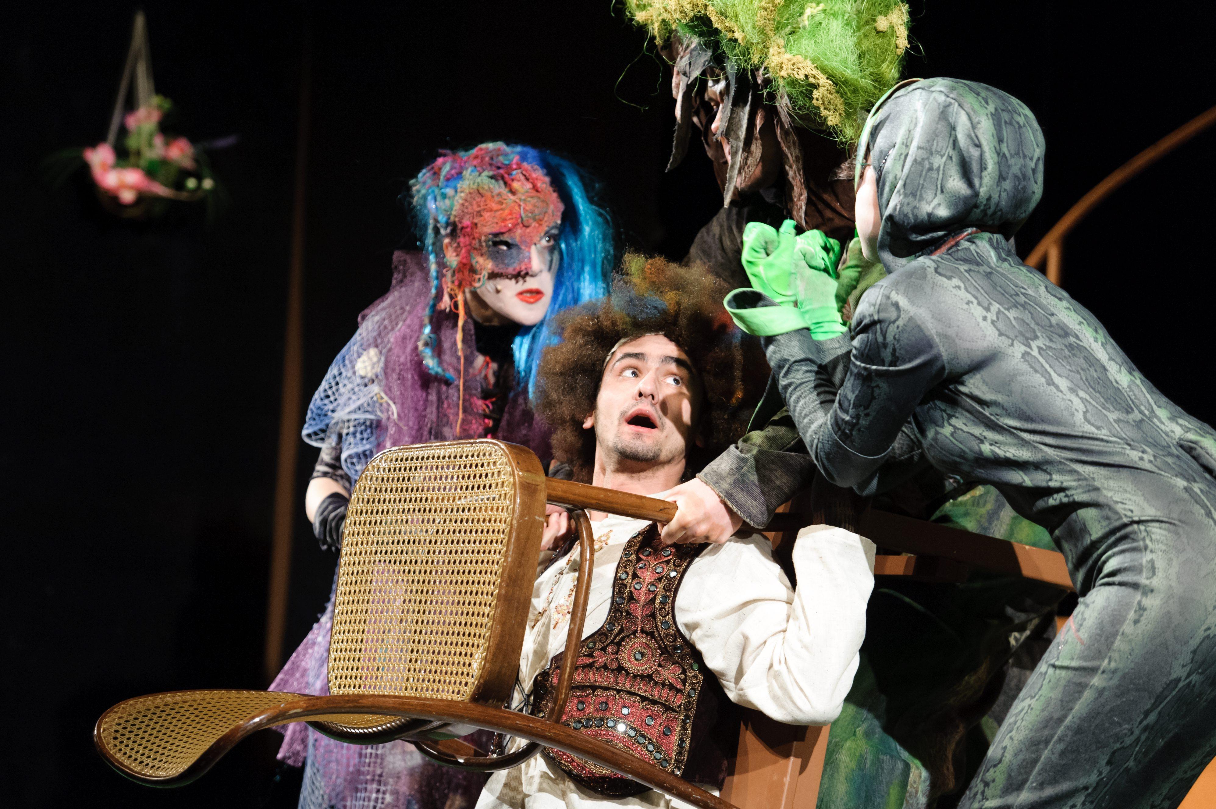 MTI/Komka Péter.-Gergő és az álomfogó című zenés mesejáték főpróbája a kassai Thália Színházban 2012-ben