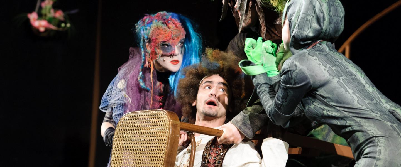 Gergő és az álomfogó című zenés mesejáték főpróbája a kassai Thália Színházban 2012-ben
