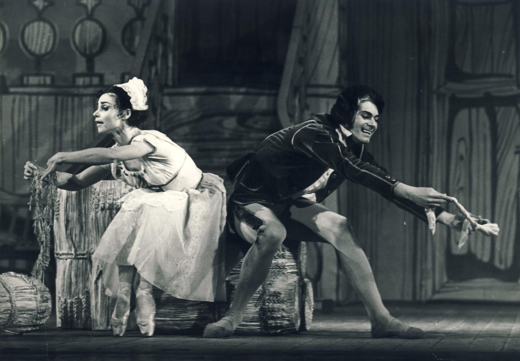 Operaház/Mezey Béla felvétele-Hérold – Lanchbery – Ashton: A rosszul őrzött lány Kun Zsuzsa és Róna Viktor