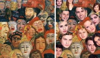 Eleven festmények a kaposvári színésznövendékektől