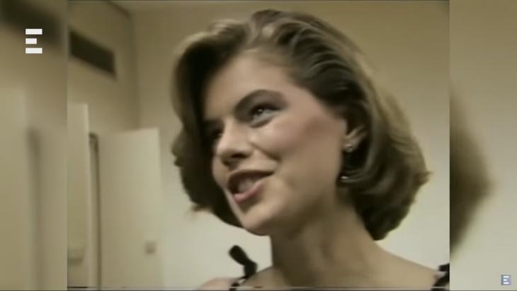 echotv-Molnár Csilla nyilatkozik a televíziónak a szépségverseny eredményhirdetése előtt