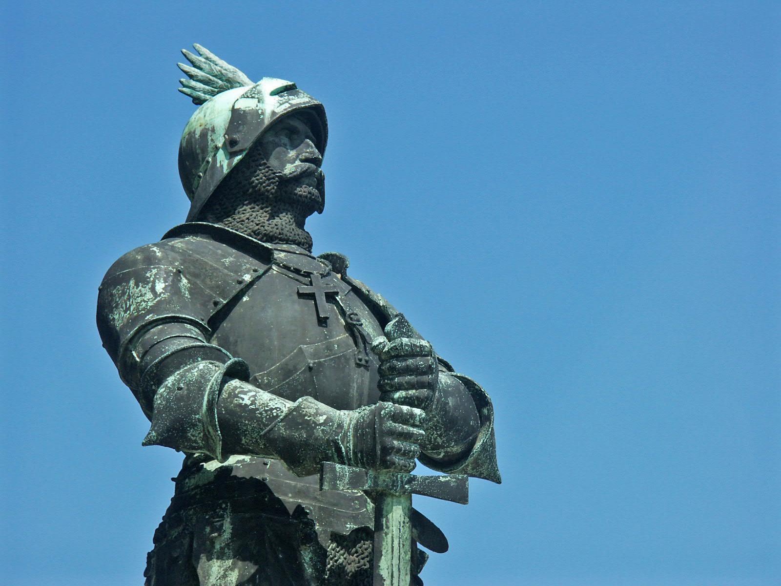 Thaler Tamás-Hunyadi János szobra Budapesten