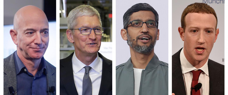 Jeff Bezos, Tim Cook, Sundar Pichai, Mark Zuckerberg kongresszusi meghallgatása