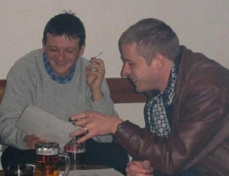 Sántha Attila archívuma-Orbán János Dénessel a Bretter György Irodalmi Körön