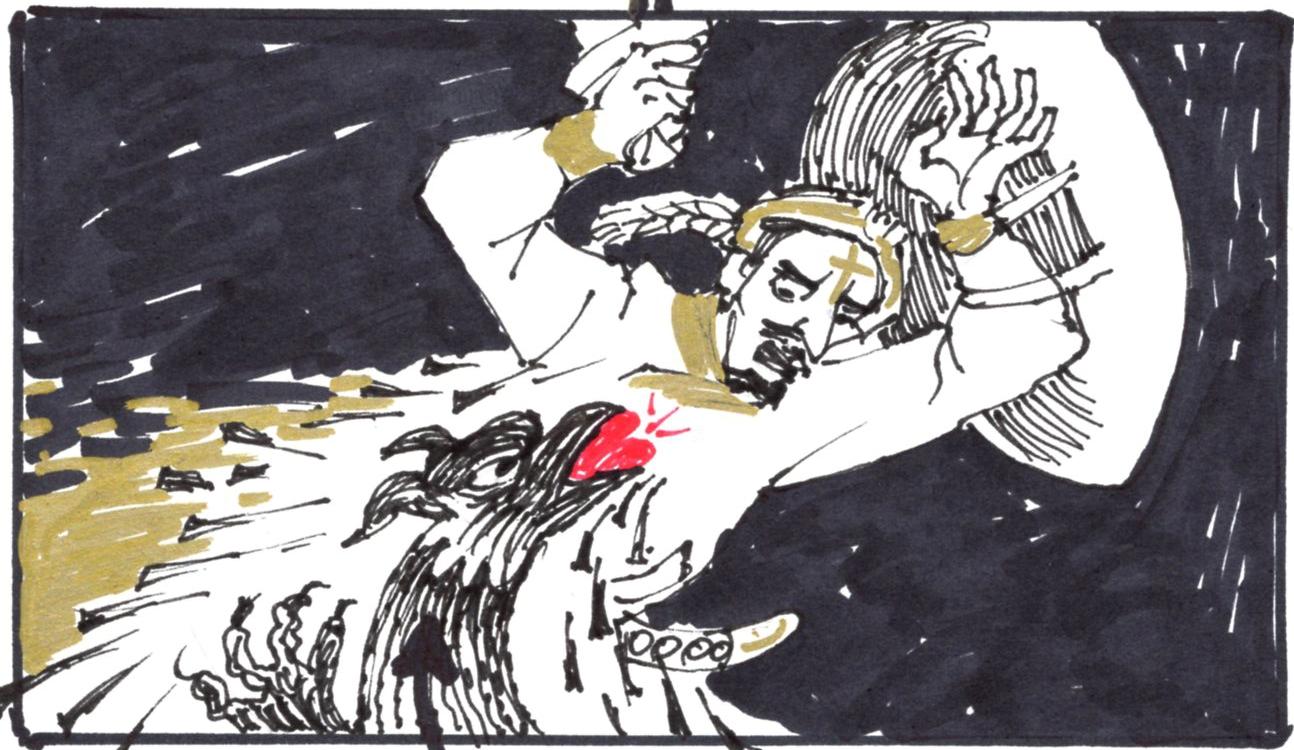 Kecskeméti Rajzfilmstúdió-Jelenet a Szent István király életét bemutató epizódból