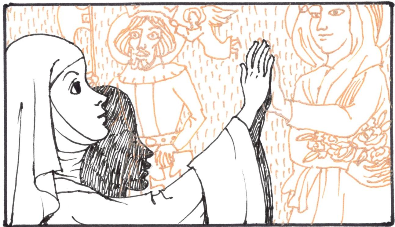 Kecskeméti Rajzfilmstúdió-Jelenet a Szent Margit életét bemutató epizódból