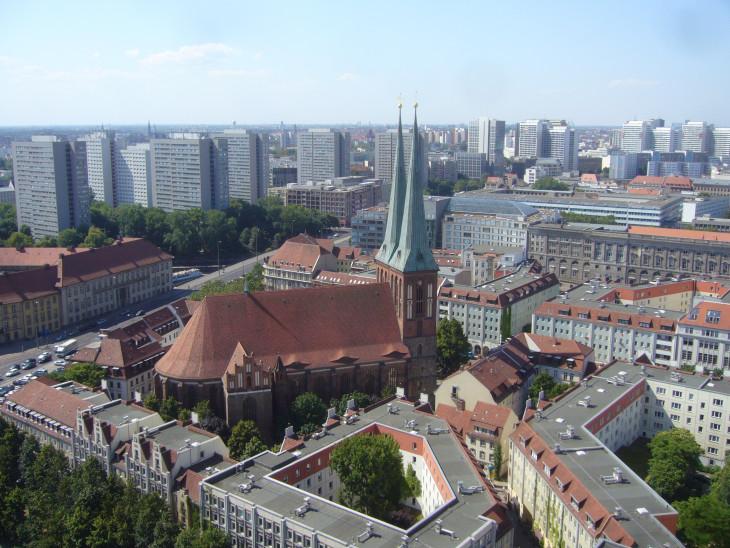 Stadtmuseum Berlin-KIlátás a Nikolaiviertel-re