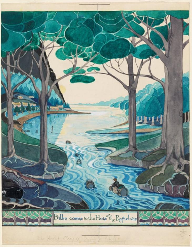 The Tolkien Trust-Tolkien által készített illusztráció a Hobbithoz.